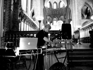 Martin Fabricius at Roskilde Cathedral. Photo Annika Øyrabø
