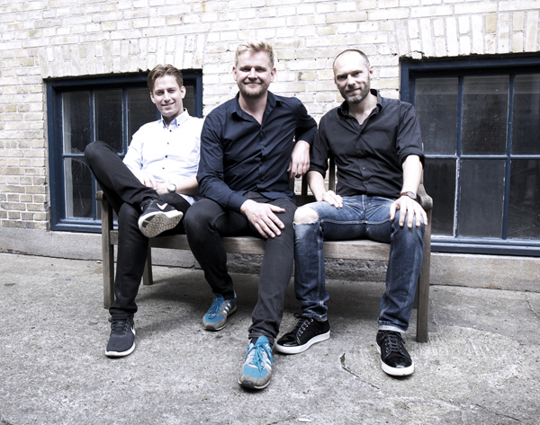 Jacob Hatholdt, Martin Fabricius, Christian Hougaard out side the Millfactory studio. Curtesy of Nuvenue Jazzfestival